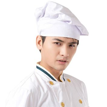 New Arrival Chef Hats Unisex Restaurant Kitchen Cooking Hat Hotel Working Cap Adult Cap White Cook Food Prep Caps Hot Sales