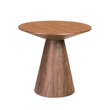 "Wesley 24"" Side Table in Walnut Veneer"