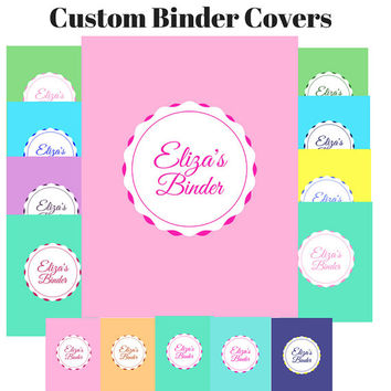 Printable Custom Binder Cover Set |  Preppy Binder Insert Set | Preppy Binder Cover Set | Custom Printable Binder Cover | Teacher Journal