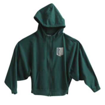 Attack On Titan Scout Regiment Costume Girls Zip Hoodie