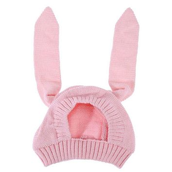9ecaf874432 Cute Baby Hat Infant Long Rabbit Ears Knitted Hat Unisex Baby Au