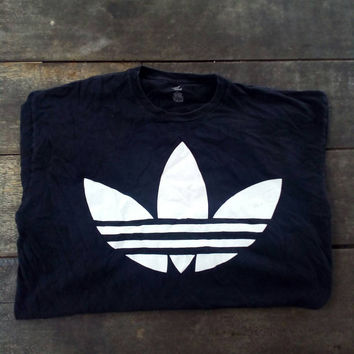 Adidas 3 strips big logo T-shirt vintage