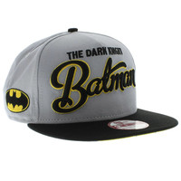 Batman Dark Knight The Flip Up Team SNAPBACK - Gray & Black By New Era Cap