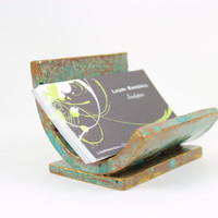 Ceramic Business Card Holder - Rustic Card Holder