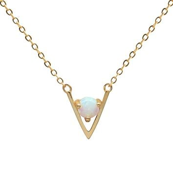 Fire Opal Point Necklace