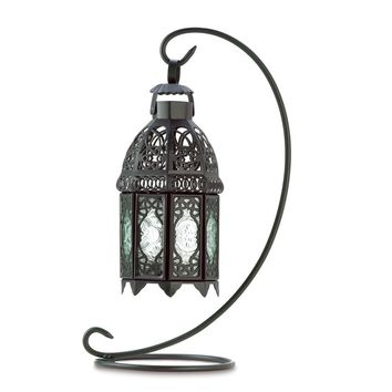 Iron Moroccan Tabletop Candle Holder Lantern