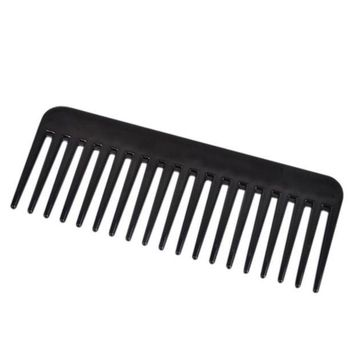 DCCKL72 19 Teeth Black High Quality ABS Plastic Heat-resistant Large Wide Tooth Comb Detangling Wide Teeth Hairdressing Comb