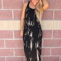 Tie dye racerback maxi dress-more colors