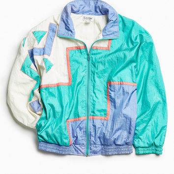 Vintage Teal Windbreaker Jacket | Urban Outfitters