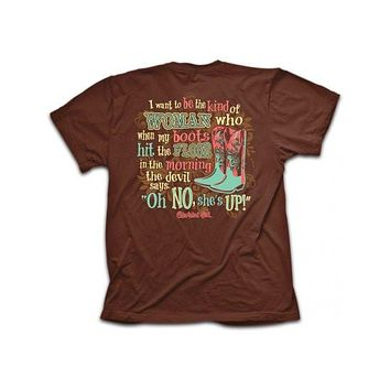 Cherished Girl Oh No Boots Country Southern Girlie Christian Bright T Shirt