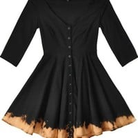 Mary Meyer Black Bleach Flannel Cher Dress
