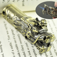 Dragon Head Shaped NOVELTY BUTANE GAS JET LIGHTER - Color May Vary