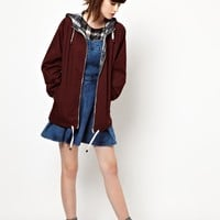 Pop Boutique | Pop Boutique Anorak with Tartan Lining at ASOS