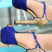 Elegant Bling Fashion High-heeled shoes