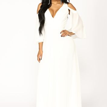 Debutante Ball Chiffon Dress - White