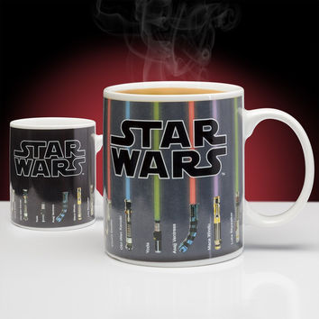 Free Shipping 1Piece The Force of Heat Star Wars Lightsaber Heat Changing Mug Light Saber Ceramic Coffee Cup