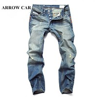 Ripped Jeans men Hole Stretch Destroyed Jean Homme Masculino Fashion Design Men's Jean Skinny Jeans For Male Pants