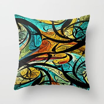 Abstract Pattern Throw Pillow by Klara Acel