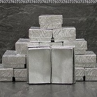 25 pcs Silver Cotton Filled Jewelry Display Gift Boxes