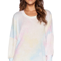 Wildfox Couture Dream Tie Dye Top in Pink