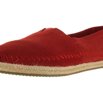 Toms Women's Classic Casual Shoe Red Suede 6.5 B(M) US '