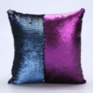 Purple/Blue Color Changing Mermaid Pillow Cover