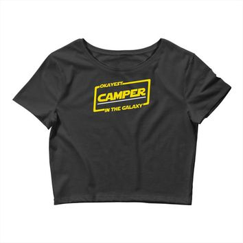 okayest camper in the galaxy funny camping Crop Top