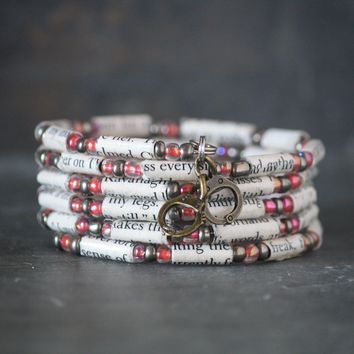 Fifty Shades of Grey Book Bead Charm Bracelet