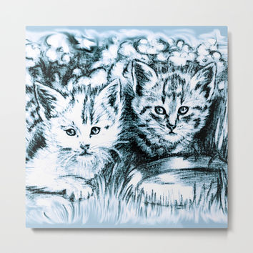 cats babies Metal Print by GittaG74
