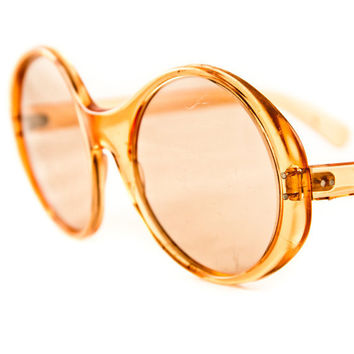 Big Round Vintage Sunglasses 1960's Retro Fashion by goodmerchants