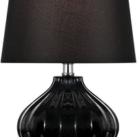 0-018752>Gordana 1-Light Table Lamp Black Ceramic