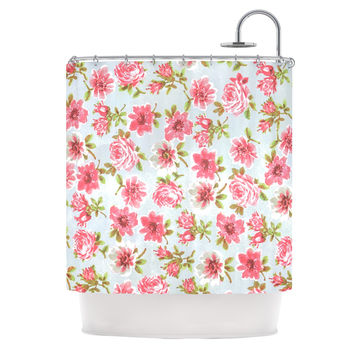 "Heidi Jennings ""Petals Forever"" Blue Pink Shower Curtain"