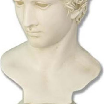 Greek Athlete Wearing Diadem Head Wreath Bust 18H - 5016