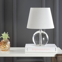 Mable 14Inch H Table Lamp Clear (Includes Energy Efficient Light Bulb) - Safavieh