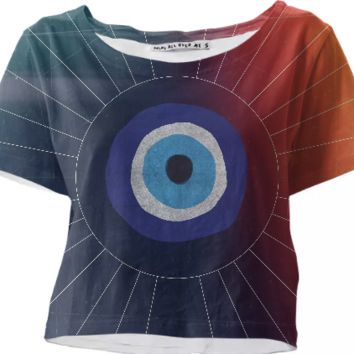 Evil Eye crop top created by duckyb | Print All Over Me