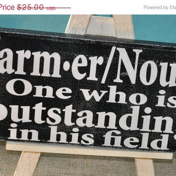 Luck O the Irish Sale Farmer, A Definition -  Expressive Art on Canvas wall decor for Dorm, kitchen,farm house, barn, family room wall art