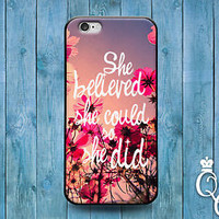 Cute Pink Flower Quote Case Fun Girly Girl Cover iPod iPhone 4 4s 5 5s 5c 6 Plus