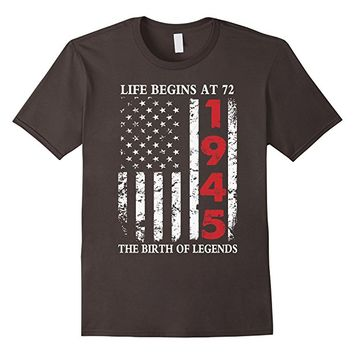 1945 The Birth Of Legends American Flag T-Shirt, 72th Gift