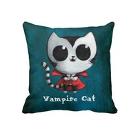 Cute Vampire Cat Pillows from Zazzle.com