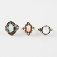 FULL TILT 3 Piece Textured Stone Rings | Rings