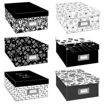 Pioneer Black & White Photo Storage Box-Six Assorted Designs | JOANN