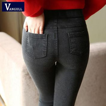 New Fashion Ladies Casual Stretch Denim Jeans 2017 Hot Leggings Jeggings Pencil Pants Thin Skinny Leggings Jeans Womens Clothing