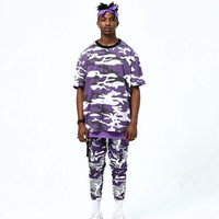 Purple Multi Camo Oversize Tee