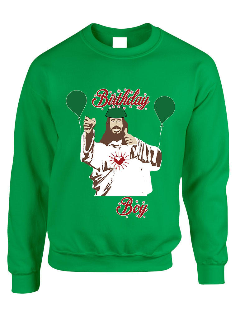 Adult Crewneck Birthday Boy Jesus Ugly from allntrendshop