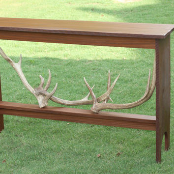 Wood Table Antler Furniture handmade console table entry table rustic table
