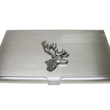 Side Facing Stag Deer Head Business Card Holder