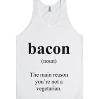Bacon Definition-Unisex White Tank