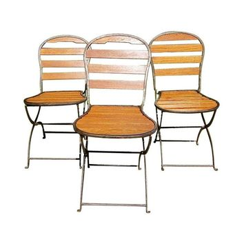 Pre-owned Folding '40s French Bistro Chairs - Set of 4