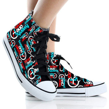 Twenty One Pilots Shoes,Shoes Custom,High Top,canvas shoes,Painted Shoes,Special Christmas Gift,Birthday gift,Men Shoes,Women Shoes