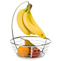 The Container Store > Chrome Banana Holder & Bowl